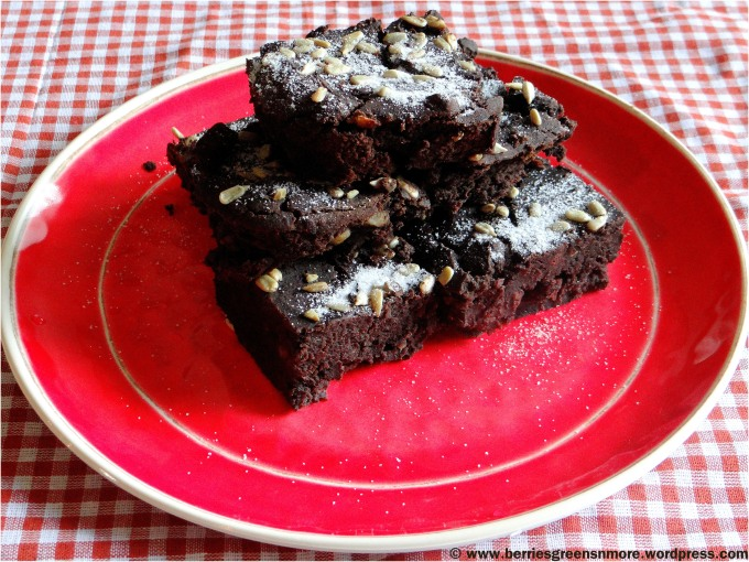 Black Bean Millet Brownies