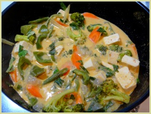 Veggie Thai Coconut Peanut Curry