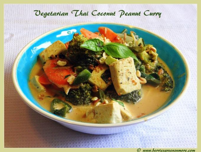 Veggie Thai Coconut peanut Curry