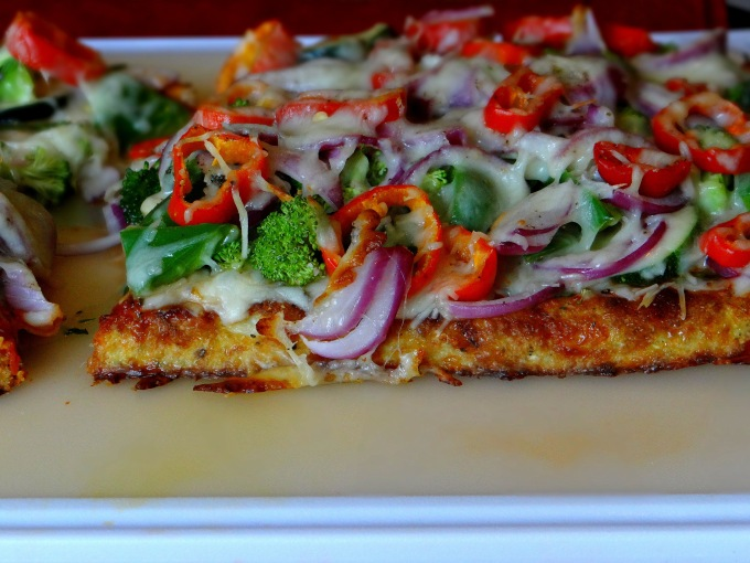 Cauliflower Crust Veggie Pizza